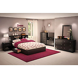 Vito 6-Drawer Double Dresser, Pure Black