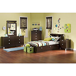 Spark 39-inch Twin 3 Drawer Mates Bed in Chocolate