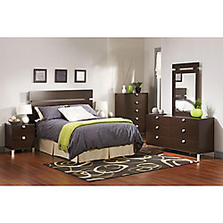 Spark 5-Drawer Chest, Chocolate