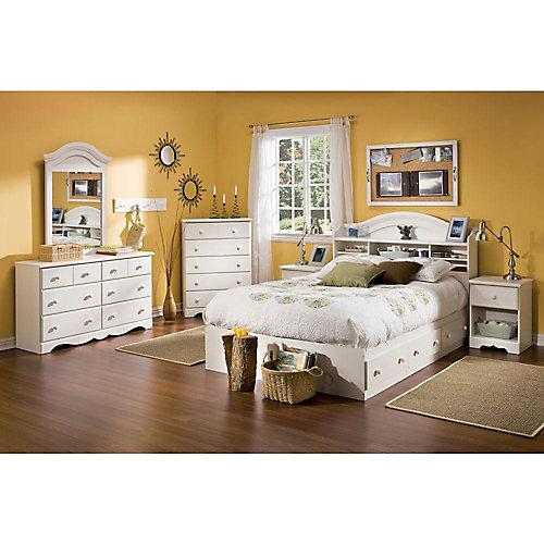 Double Storage Bed - Vanilla