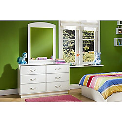 Logik 6-Drawer Double Dresser, Pure White