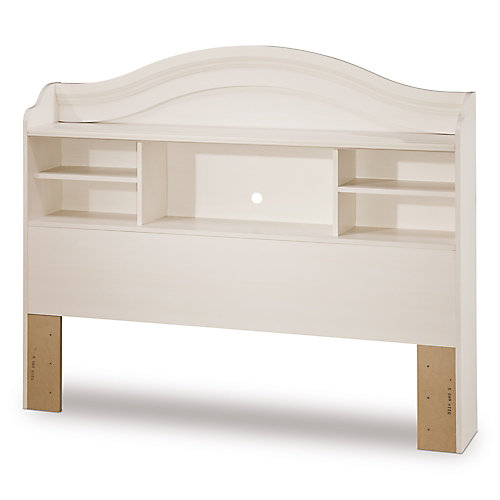 Double Bookcase Headboard - Vanilla
