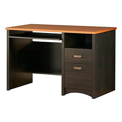South S Gascony 48 Inch L Small Desk With Storage In Ebony E The Home Depot Canada