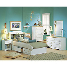 Shaker 50-inch x 29-inch x 16-inch 6-Drawer Dresser in White