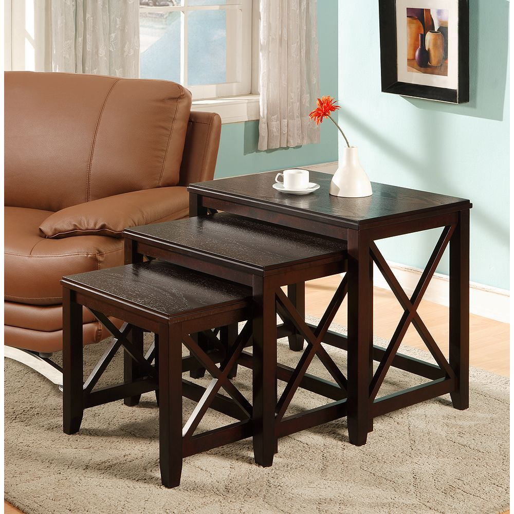 Worldwide Homefurnishings Inc. Graham jeu de 3 tables gigognes