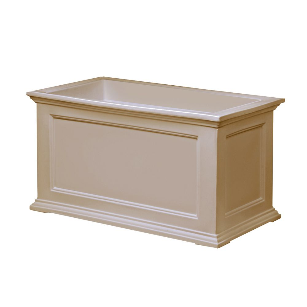 20 In. x 36 In. Fairfield Patio Planter in Clay