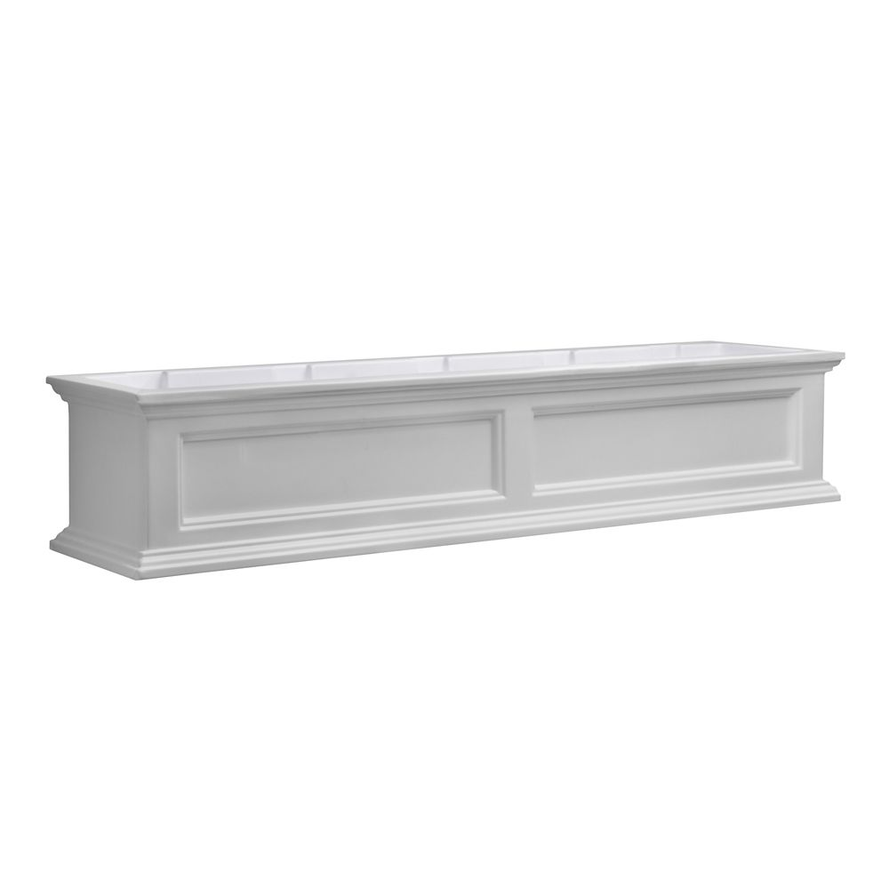 5 Ft. Fairfield Window Box in White