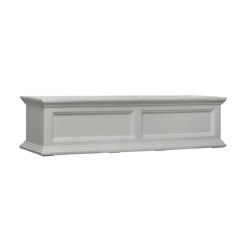 4 Ft. Fairfield Window Box in White