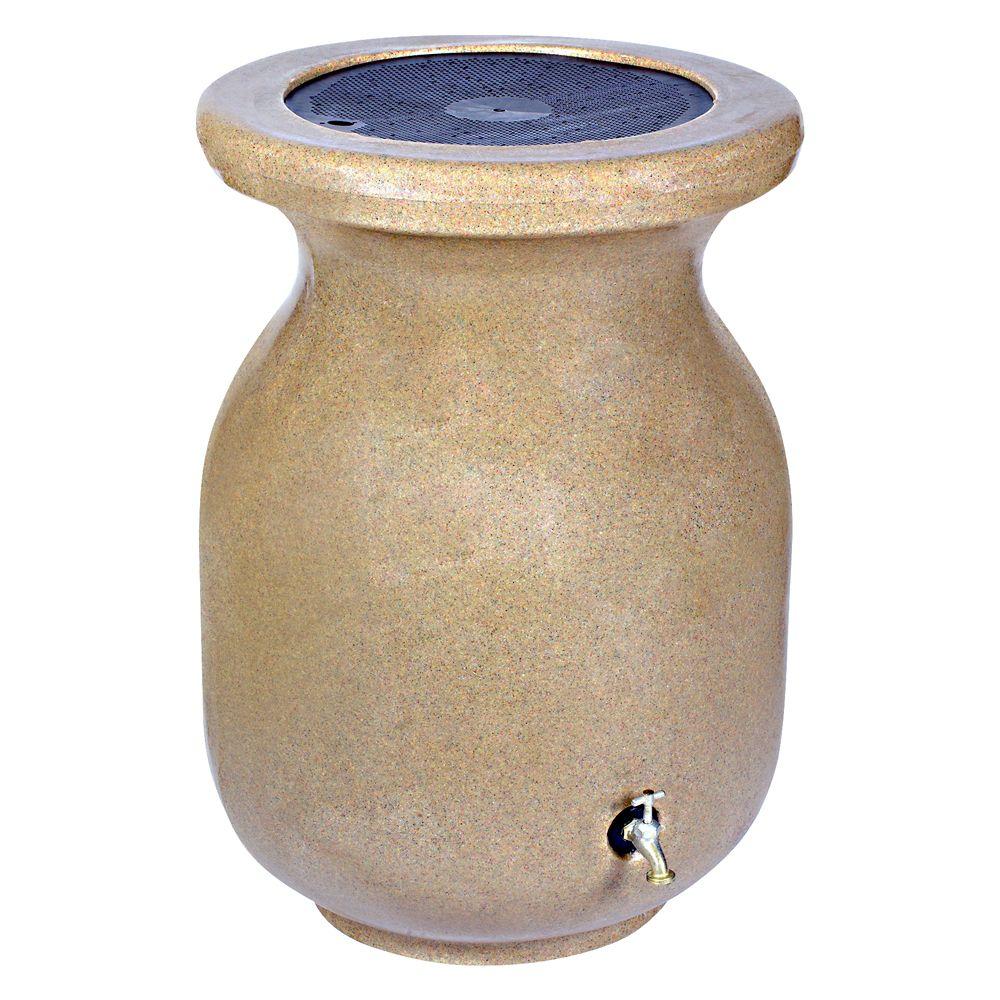 Baril de pluie -Aspect de pierre naturelle 75 gallons