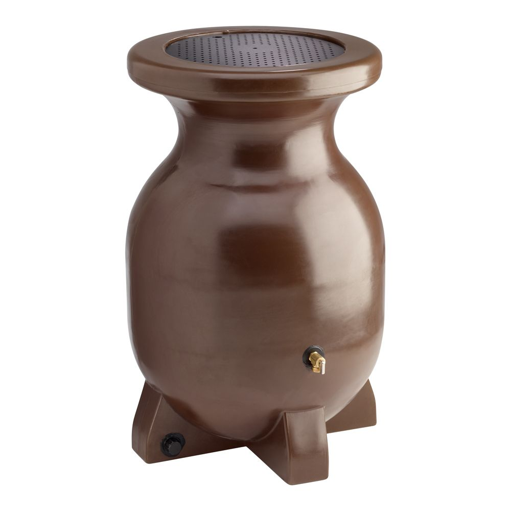 Rain Barrel, Brown - 55 Gallon