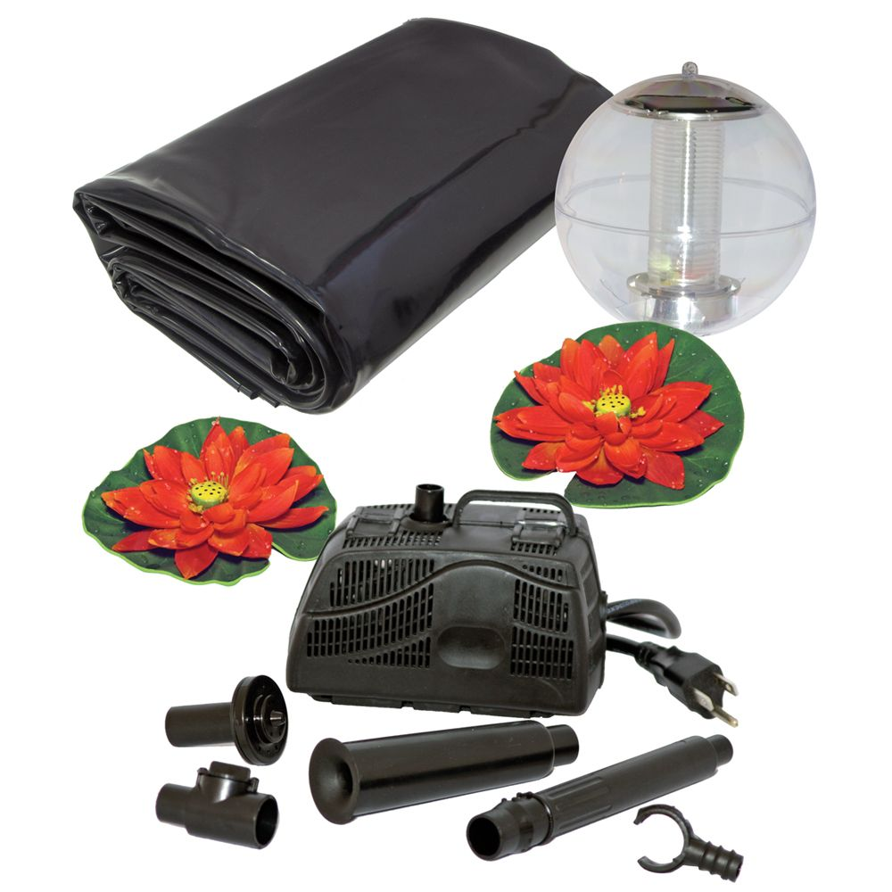 Pond Kit With Solar Light - 400 Gallon