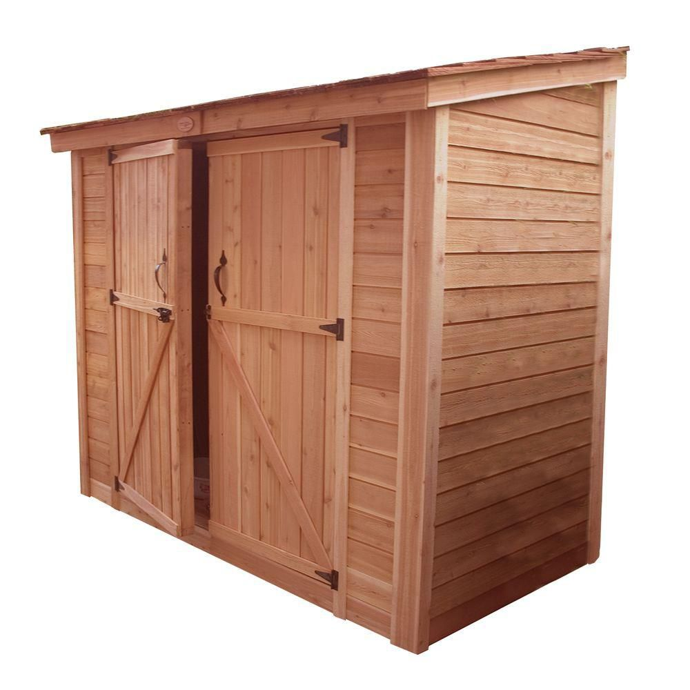 outdoor living today spacesaver shed double doors 8 ft