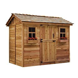 Outdoor Living Today 9 ft. x 6 ft. Cabana Garden Shed