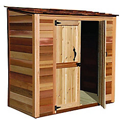 6 ft. x 3 ft. Grand Garden Chalet Cedar Storage Shed