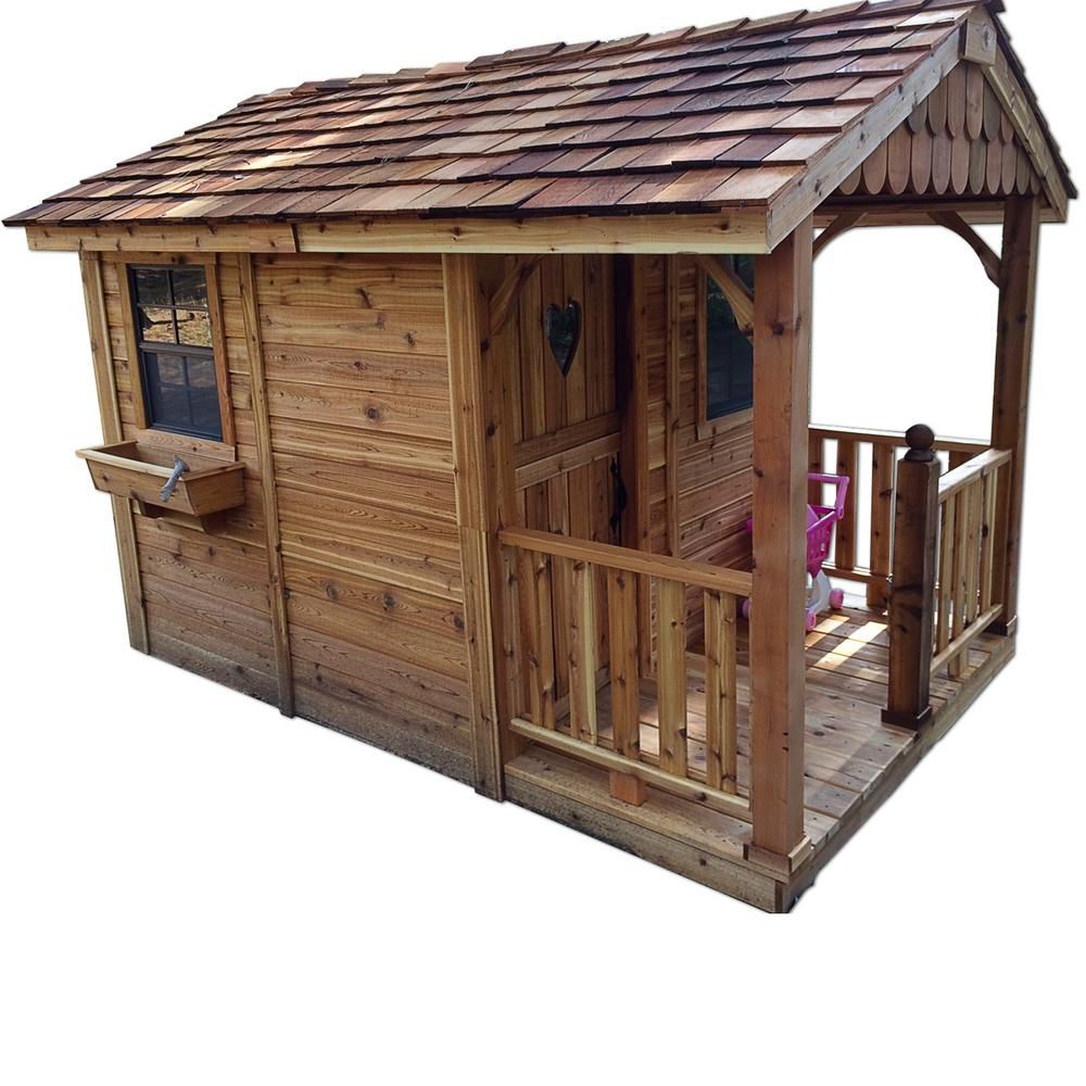 Sunflower Cedar Storage Shed and Playhouse (6 Ft. x 9 Ft.)