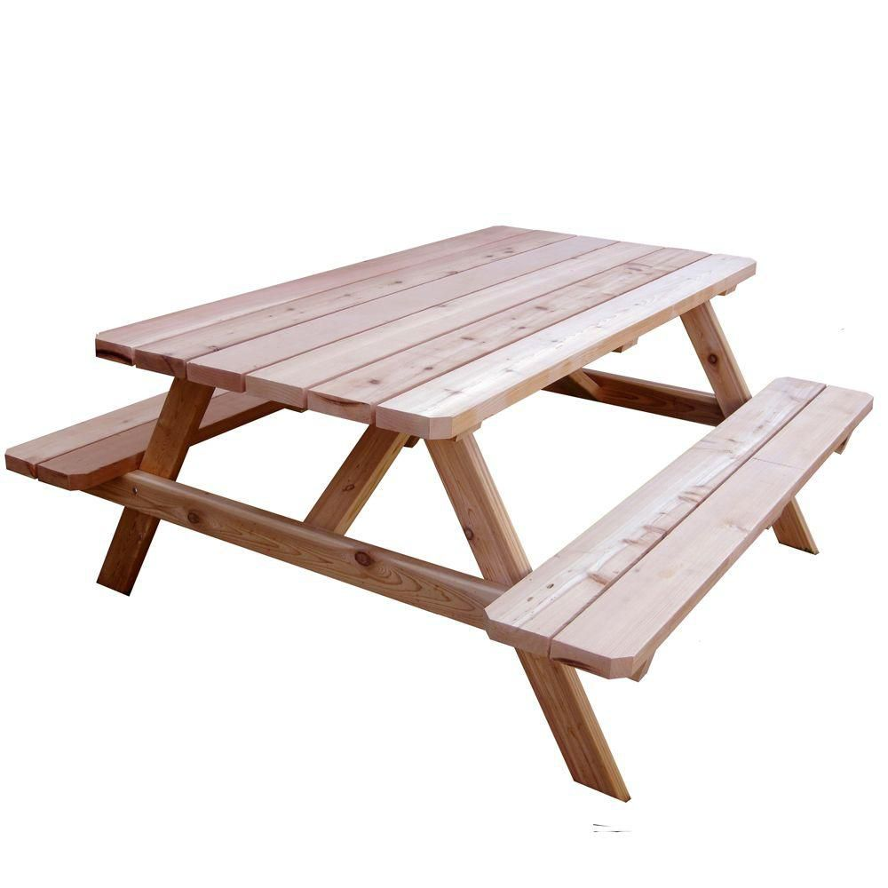 Outdoor Living Today 6 Ft X 5 Ft Cedar Picnic Table The Home Depot Canada