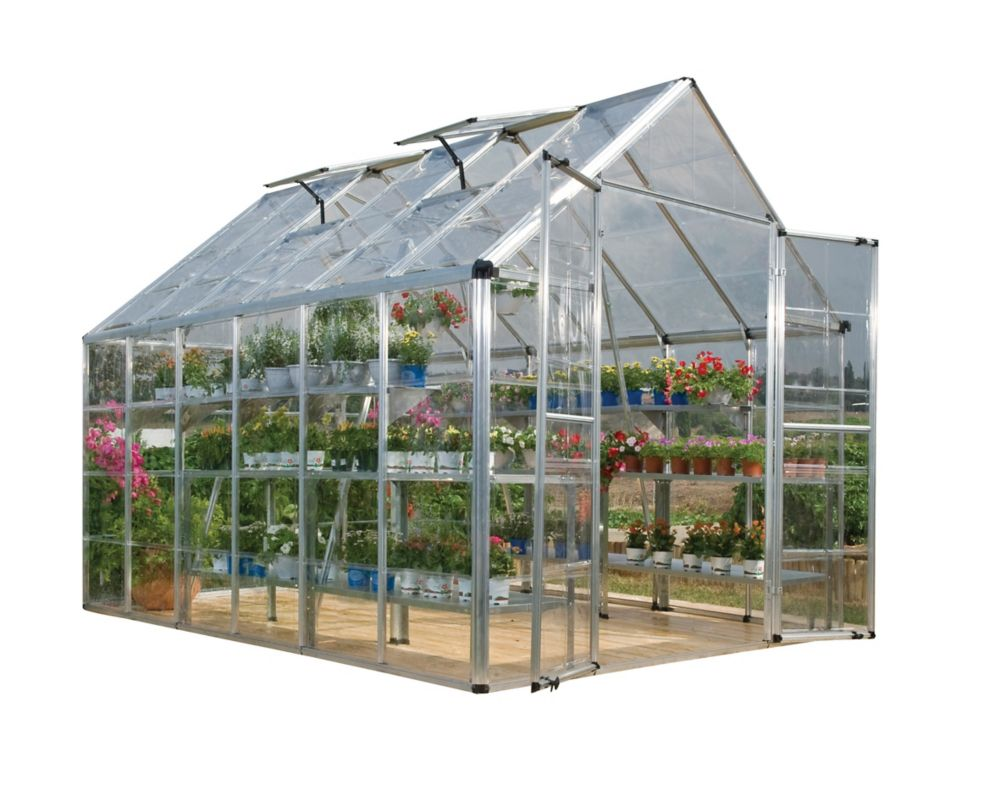 Palram Deluxe Snap N Grow 8 ft. x 12 ft. Greenhouse