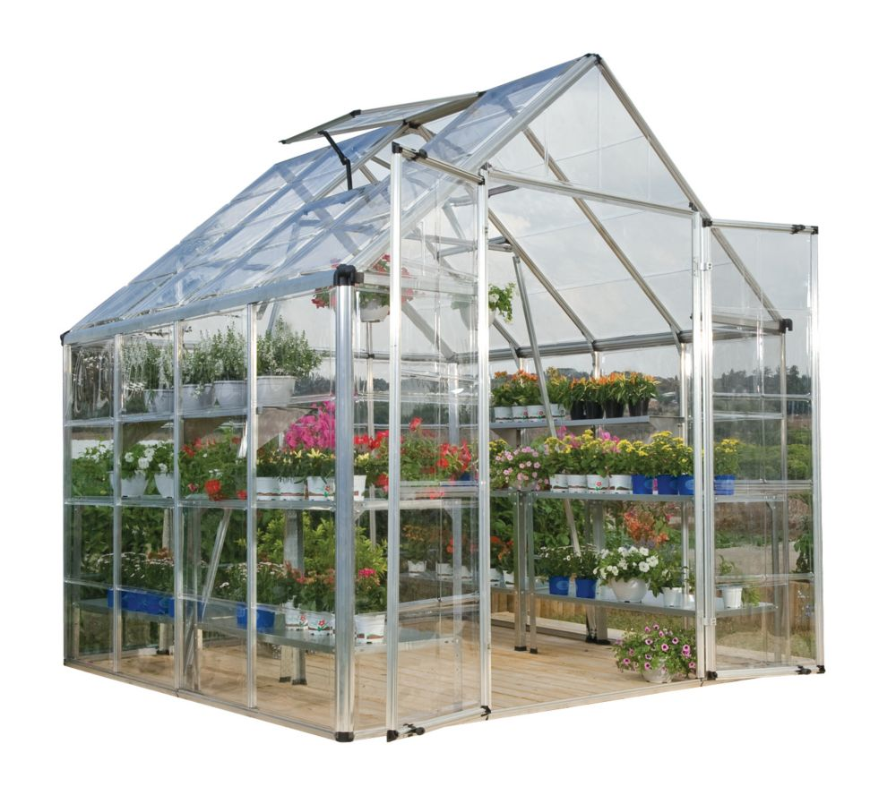 Deluxe Snap N Grow Greenhouse - 8 Feet x 8 Feet
