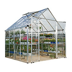 Deluxe Snap N Grow 8 ft. x 8 ft. Greenhouse