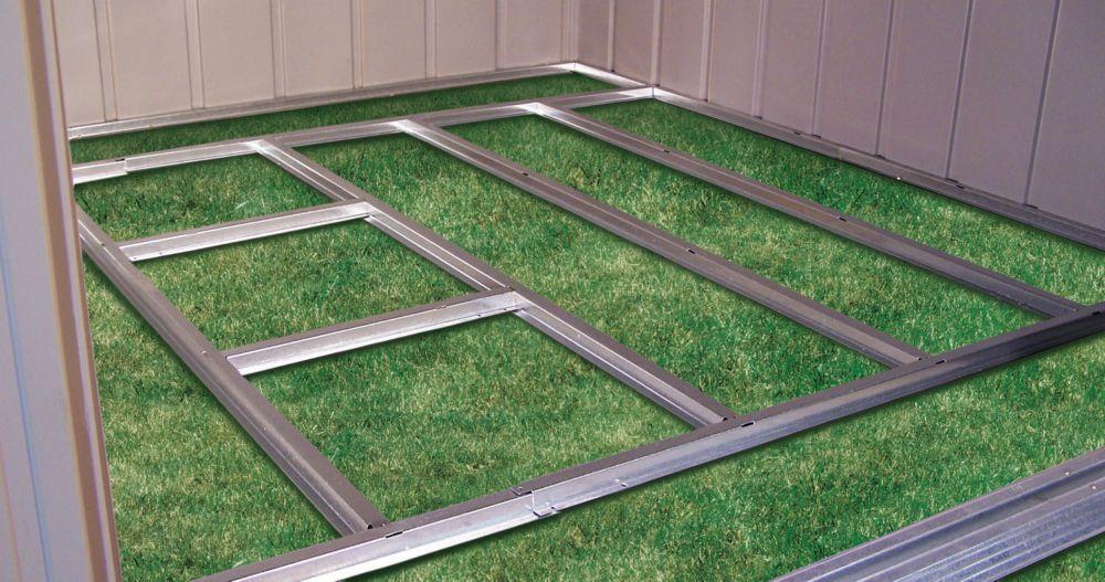 Charpente de plancher prête-à-assembler pour remise Arrow de 1,22 m x 2,13 m (4'x7') et 1,22 m x ...