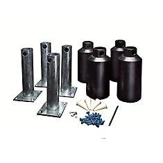 Éléments pour montage en surface - 4 po (ensemble de 4)