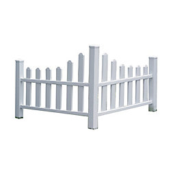 New England Arbors 2.6 ft. H x 4.6 ft. W Country Corner Picket