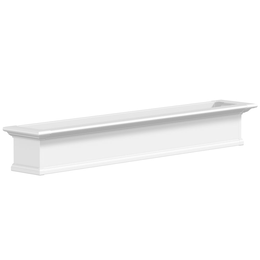 Yorkshire Window Box, White - 6 Feet