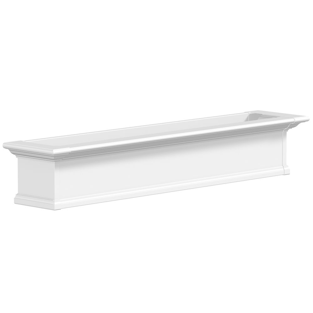 Yorkshire Window Box, White - 5 Feet