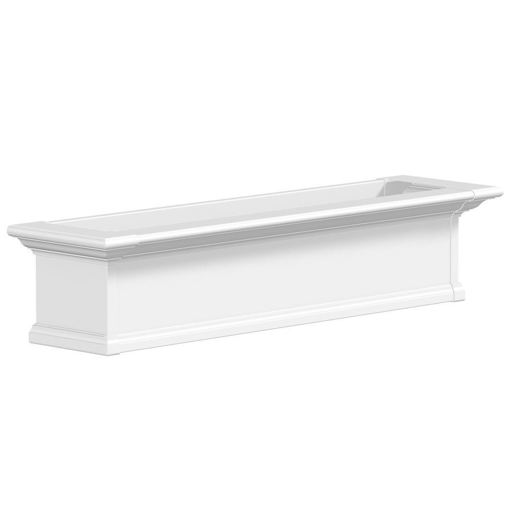 Yorkshire Window Box, White - 4 Feet