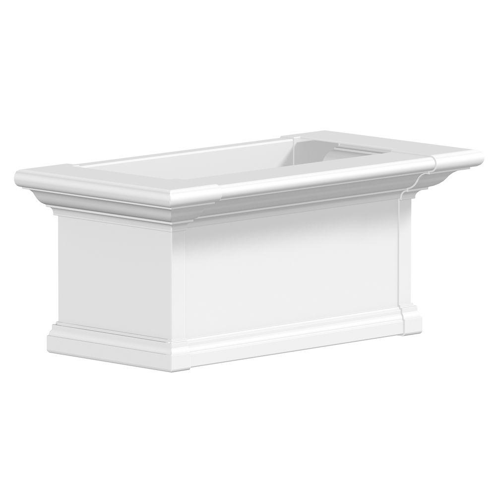Yorkshire Window Box, White - 2 Feet
