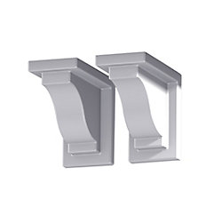 Mayne Yorkshire White Vinyl Decorative Brackets (2-Pack)
