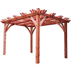 Breeze 10 ft. x 12 ft. Cedar Pergola
