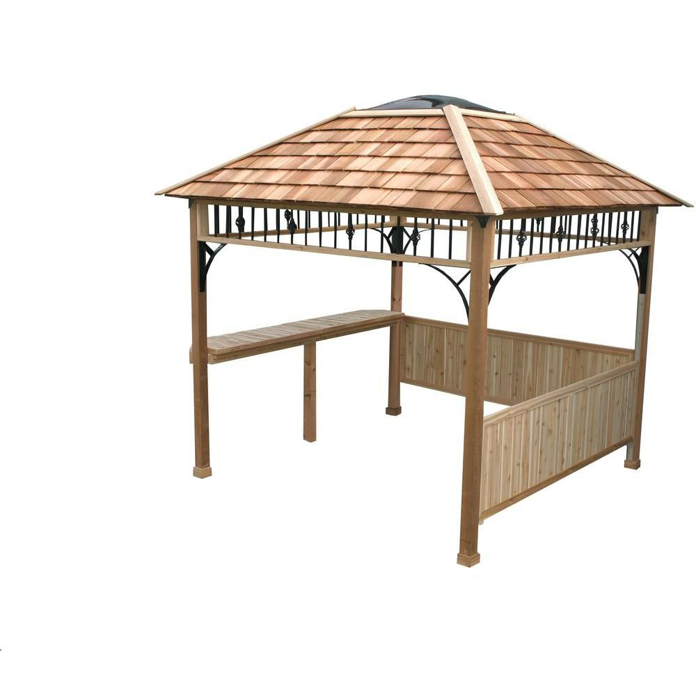 Naramata 9 ft. x 9 ft. Spa Shelter