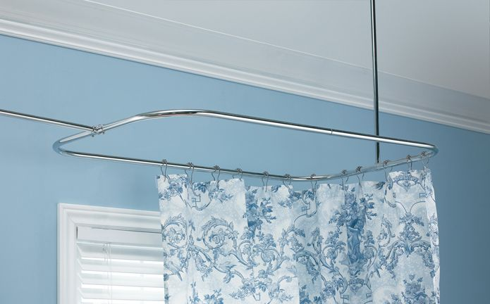brass rods curtain solid corner shower bathroom rod nickel brushed