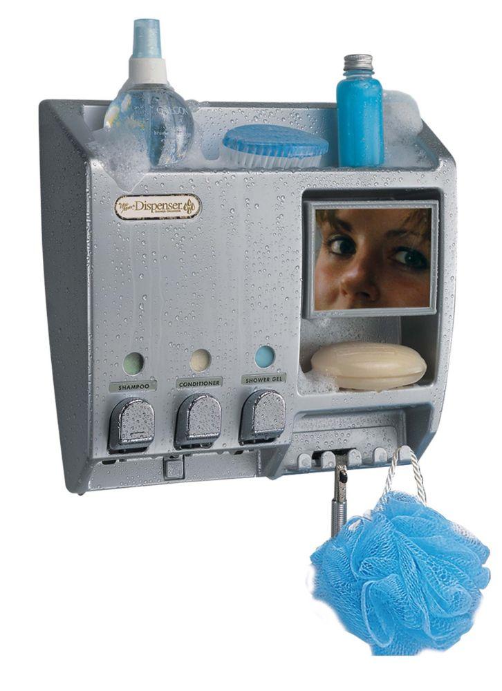 Distributeur Ulti-Mate Dispenser III + miroir (nickel satiné)