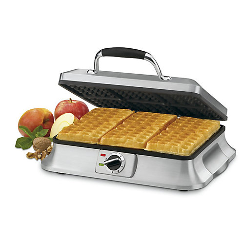 Brushed stainless steel Waffle Iron  6 Slices