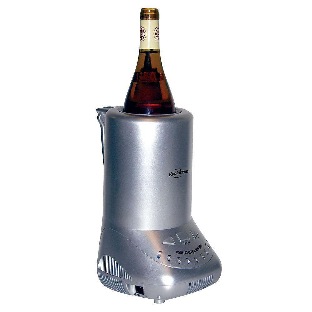 4 Bottle Thermoelectric Compact Wine Chiller In Black