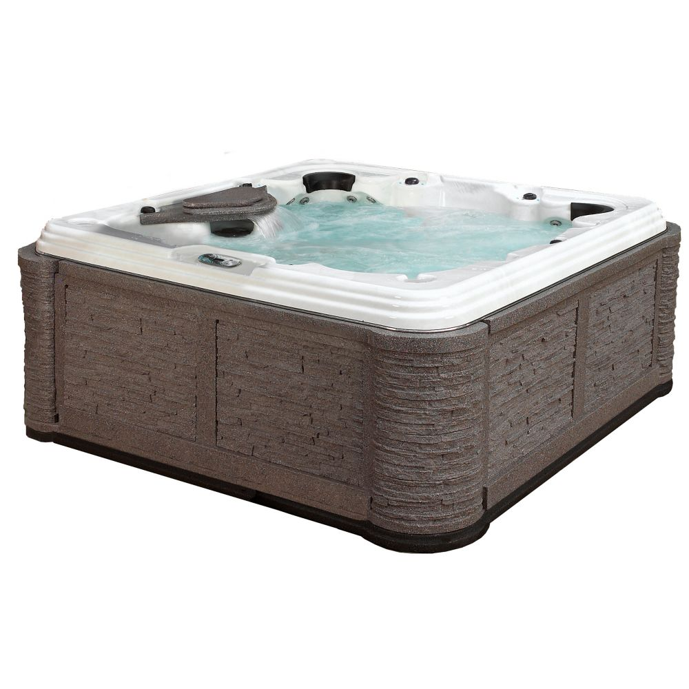 San Elba 70-Jet Spa with Cabinet in Millstone ShadowRock