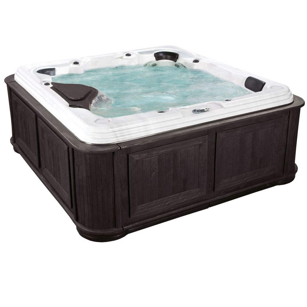 San Elba 70-Jet Spa with Cabinet in Espresso CrestWood