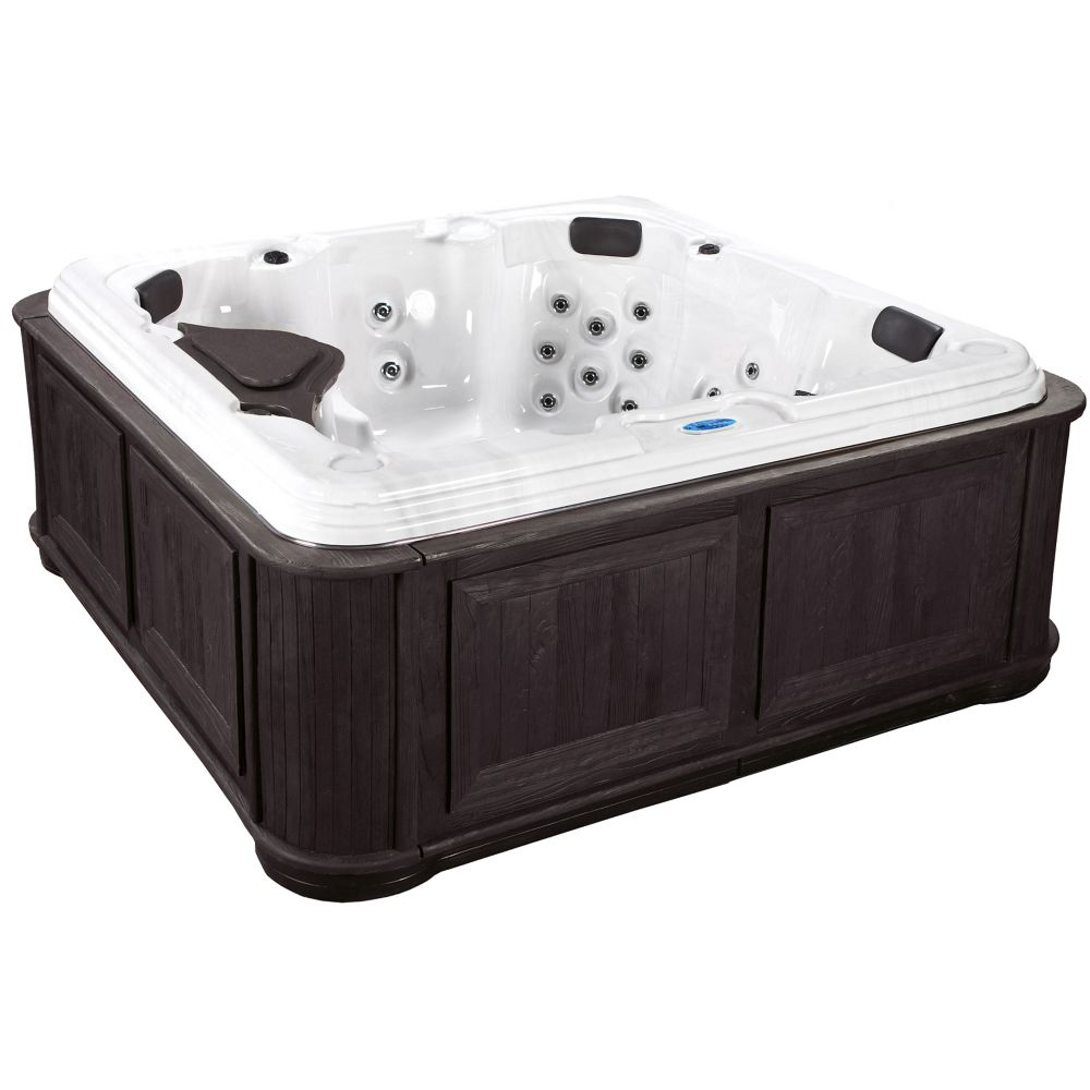Delia 60-Jet Spa with Cabinet in Espresso CrestWood
