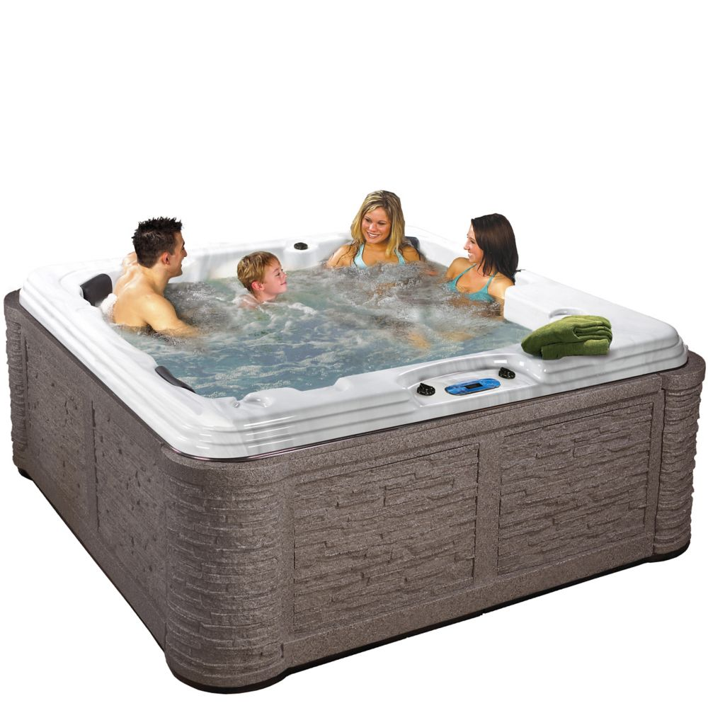 Tavira 50-Jet Spa with Cabinet in Millstone ShadowRock