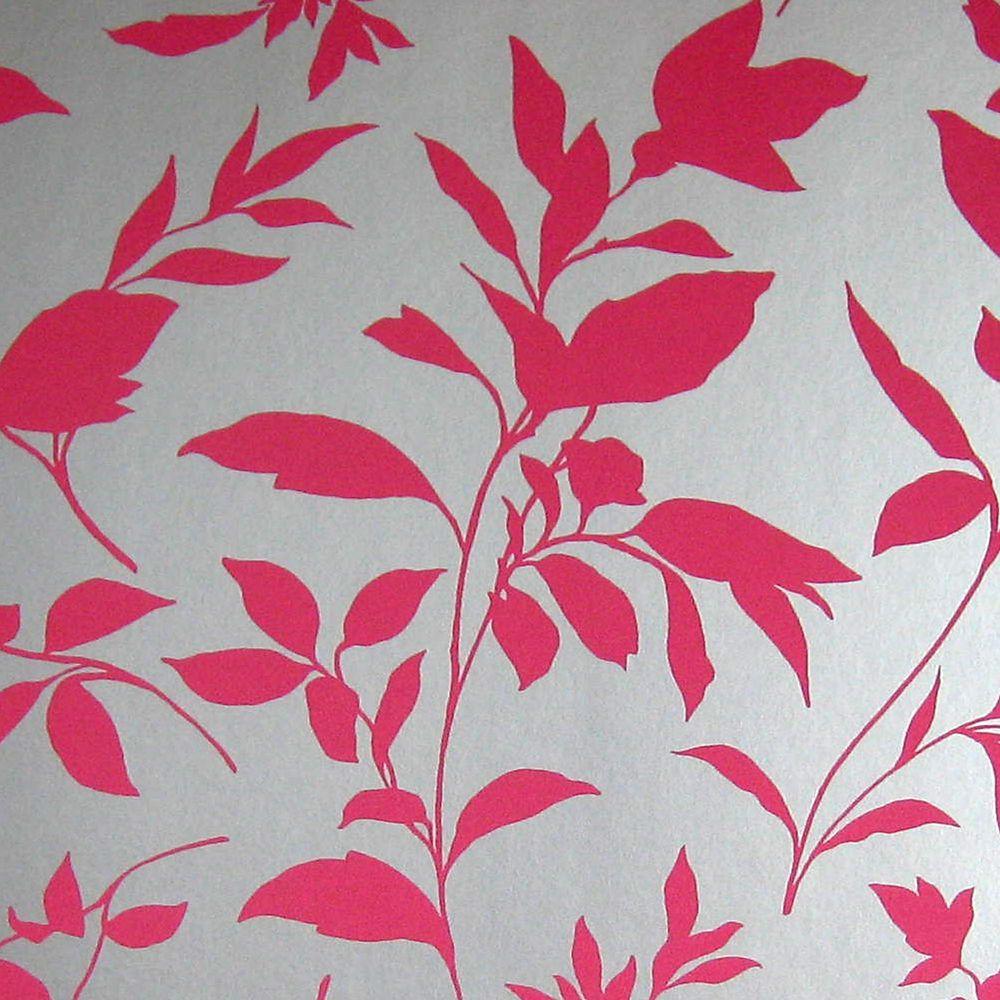 Midsummer Pink/Silver Wallpaper