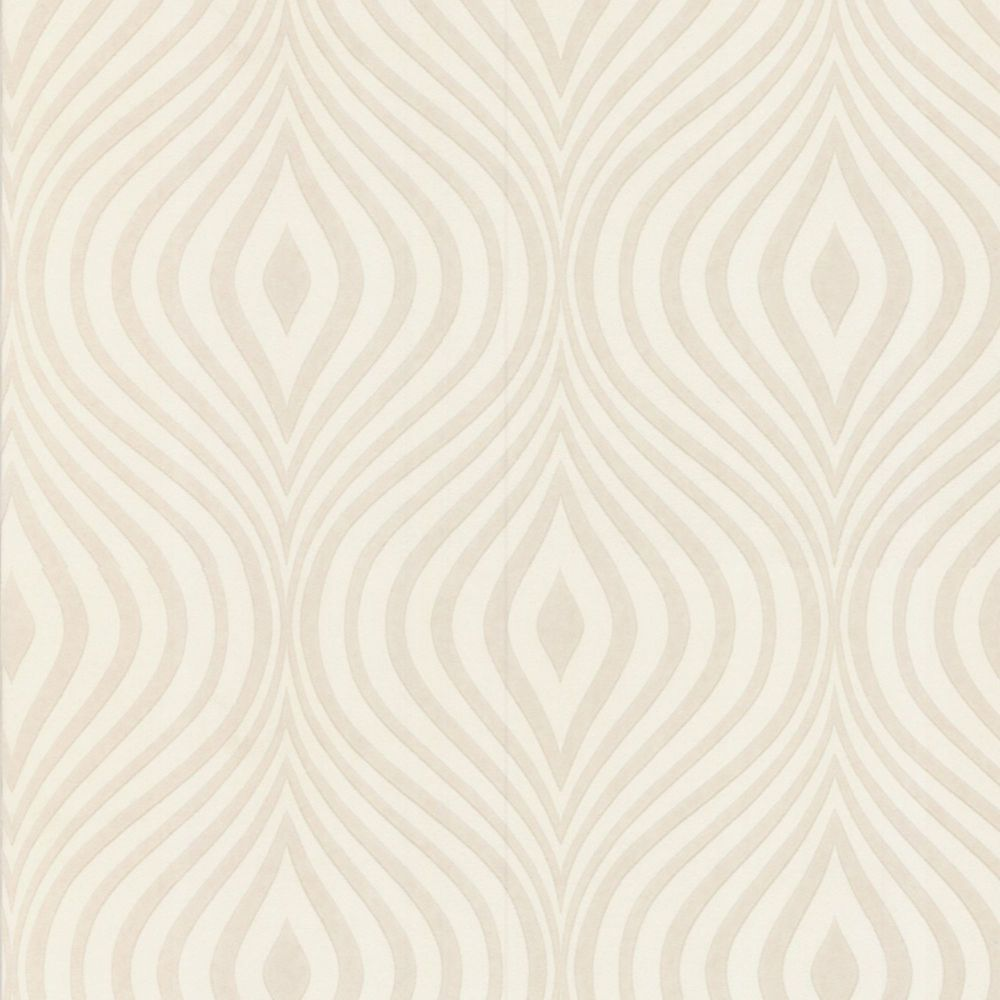 Graham Brown Curvy Paintable White Wallpaper