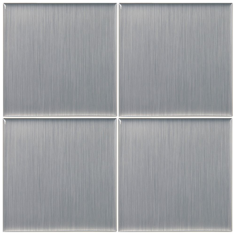 Smart Tiles Stainless - 4 Morceaux