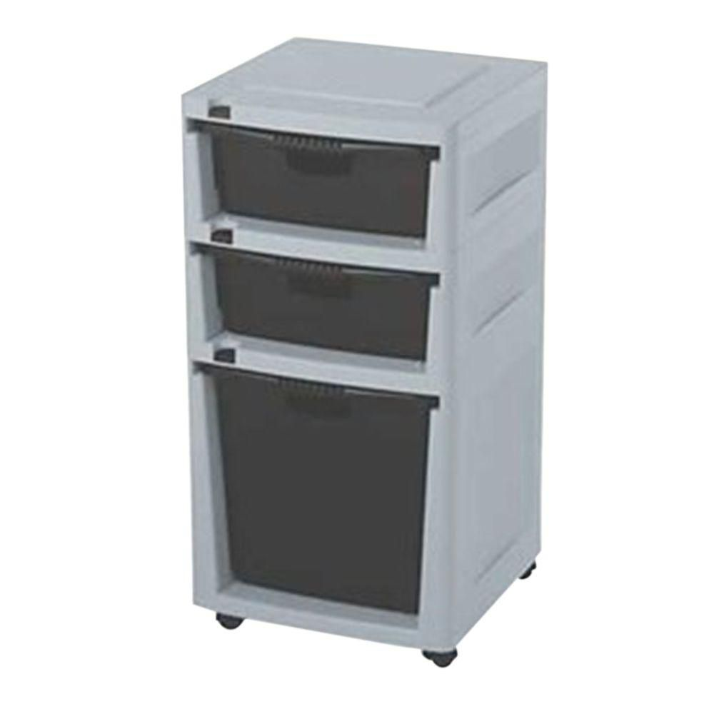Drawer Tower - Grey/Black DRT1288CD in Canada