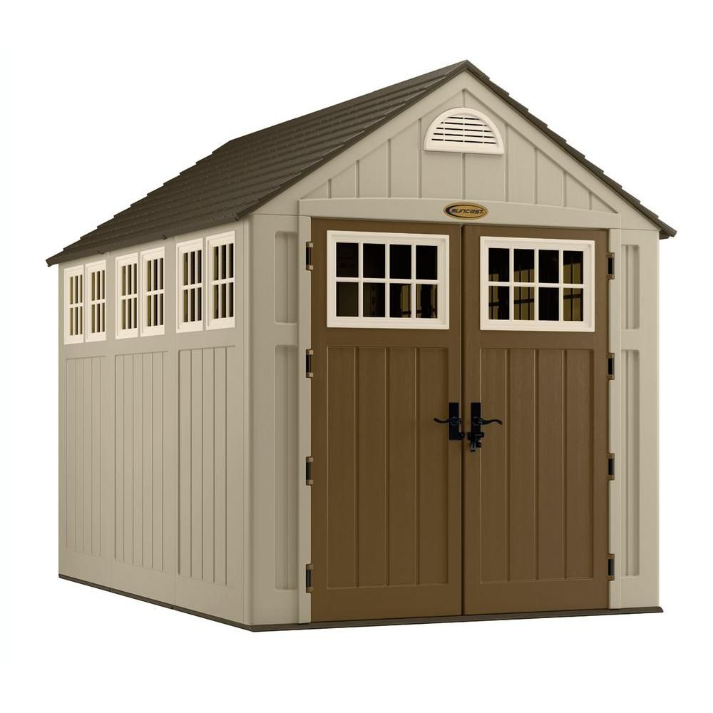 Home Depot Storage Kits : Suncast blow molded storage shed ft the