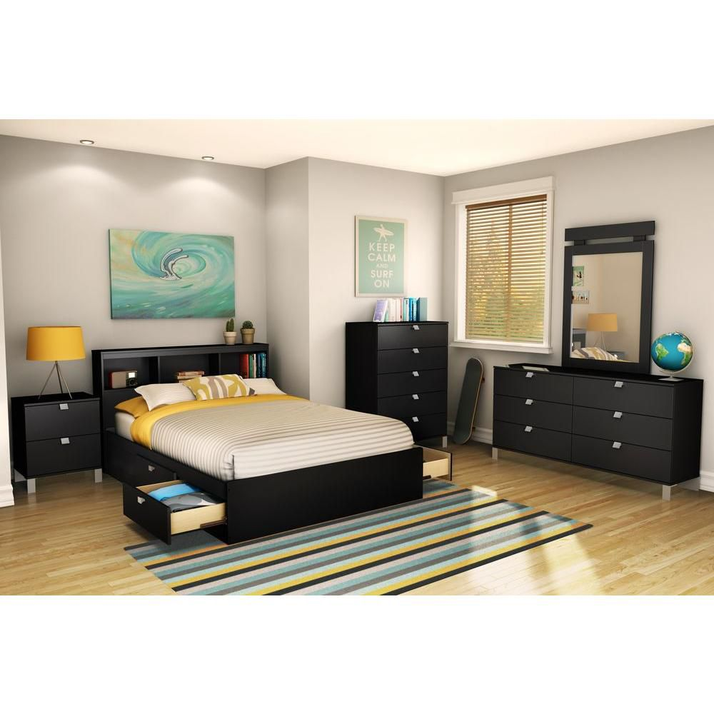 Spectra  5-drawer Chest Solid Black