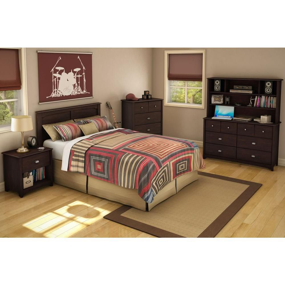 South Shore Nevan collection Twin Mates Bed Havana