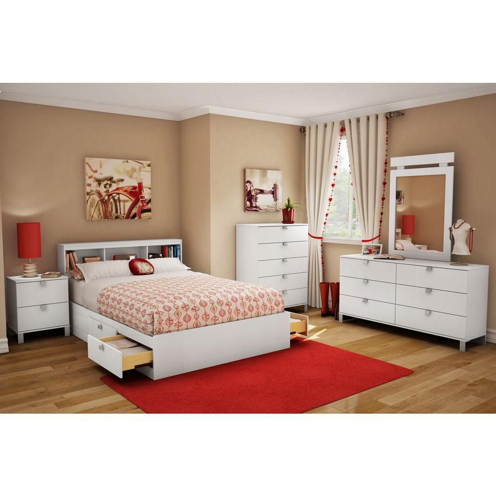 South Shore Spectra collection Full mates bed Pure White