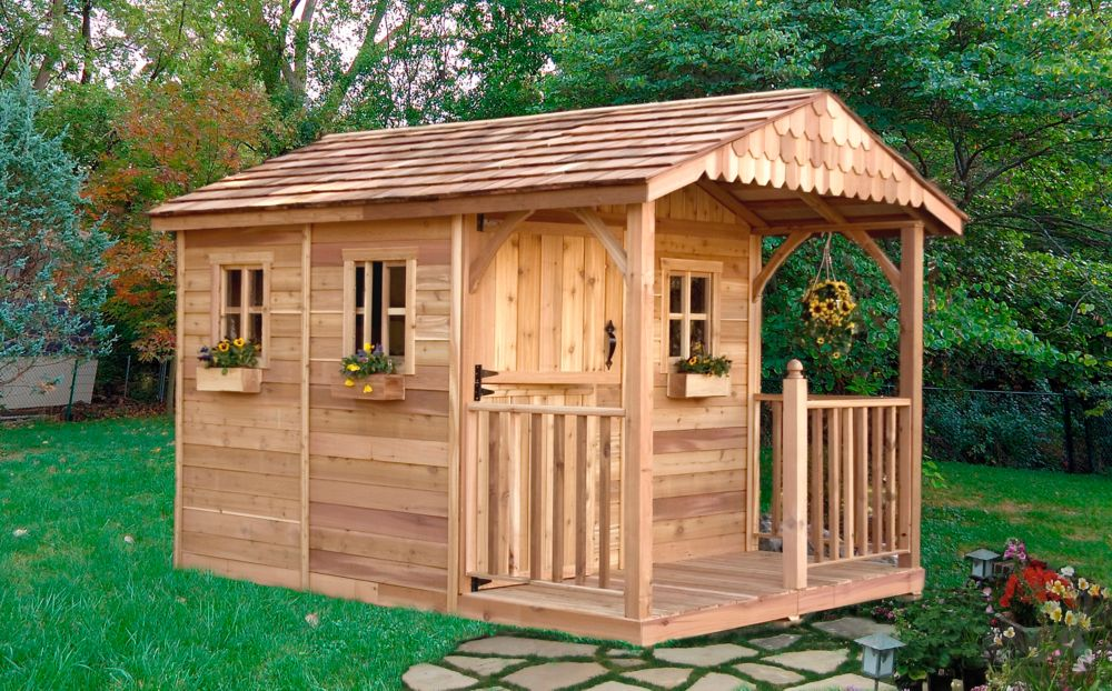 Outdoor Living Today Santa Rosa Garden Shed 8 Ft X 12